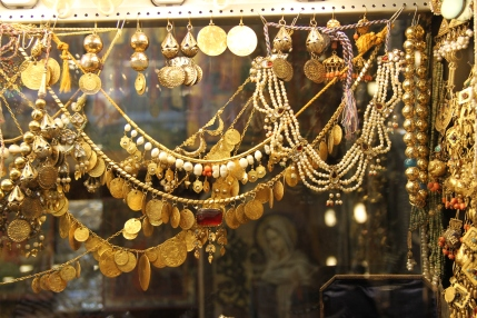 Vintage Gold jewelry from Old Bazaar, Turkey