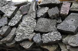 Antique blocks for block printing