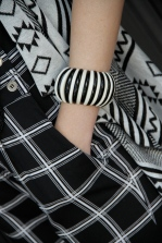 I wear this bangle lots, of course black and white is a staple
