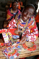 Beading in Kenya with joy